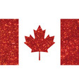 luxury red glitter canada country flag icon vector image vector image