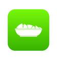 nachos in bowl icon digital green vector image