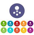 nitromethane icons set color vector image