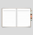 Notebook with reminder note EPS10 vector image