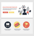 online education flat web design template vector image vector image