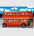 people in a bus vector image vector image