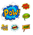 pop art comic speech bubble boom effects vector image vector image