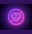 prohibition love neon icon elements ban set vector image vector image