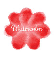 red flower watercolor hand drawn background vector image vector image