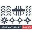 Road Map Toolkit vector image vector image