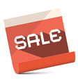 Sale - Red Paper vector image