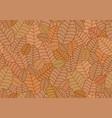 Seamless linear leaves pattern horizontal plant
