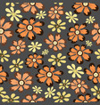 seamless pattern beautiful brown flowerretro and vector image