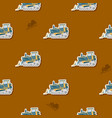 seamless pattern with farm tractor vector image vector image