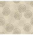 Seamless pattern with spiral circle vector image vector image
