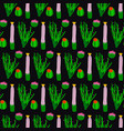 seamless texture with cactus vector image vector image