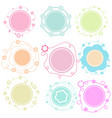 set colorful doodle borders circle frame vector image vector image