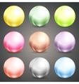 Set of colorful round baubles or balls vector image vector image