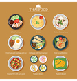 set thai food flat design vector image vector image
