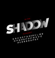 shadow style font vector image vector image