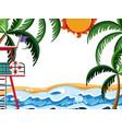 simple summer beach template vector image