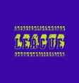slab serif bulk font in the sport style vector image vector image
