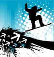 snowboarding background vector image