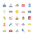summer and holidays icons 12 vector image vector image