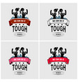 tough girls or strong women logo design artwork vector image vector image
