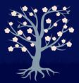 tree flower vector image vector image