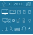 Trendy PC computer mobile gadgets and device vector image vector image