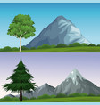 two different landscapes vector image vector image