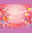 valentins day background with balloons vector image vector image