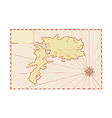 Vintage Map of Island vector image vector image