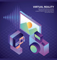 virtual reality isometric vector image vector image