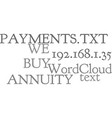 we buy annuity payments text word cloud concept vector image vector image