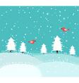 xmas snow vector image vector image