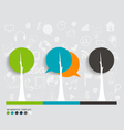 Modern infographics template style Tree with vector image