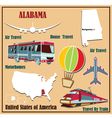 Flat map of Alabama vector image