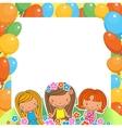 a Birthday Celebrant three girls vector image vector image