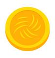 abstract virtual coin vector image vector image