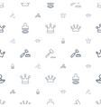 authority icons pattern seamless white background vector image vector image