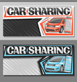 banners for car sharing vector image vector image