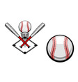 baseball emblems set for sports design or mascot vector image
