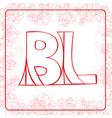 BL monogram vector image vector image