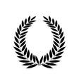 black laurel wreath reward modern symbol of vector image vector image