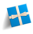 blue gift box icon realistic style vector image vector image