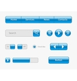 blue web ui elements on gray vector image