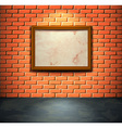 Brick wall with frame vector image vector image