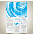brochure design template folder leaflet vector image vector image