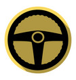 car driver sign flat black icon with flat vector image