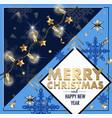 christmas banner or postcard with light bulbs vector image vector image