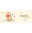 christmas banner with stack gift boxes xmas vector image