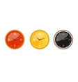 classic and modern clocks set vector image vector image